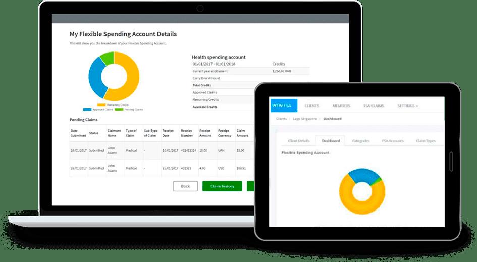 FSA - Benefits Management Solution demo screen