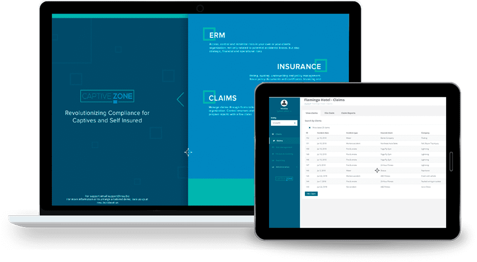 InsuBiz Insurance Solution demo screen