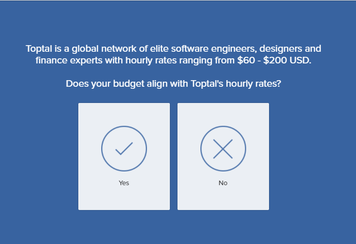 Toptal software development marketplace