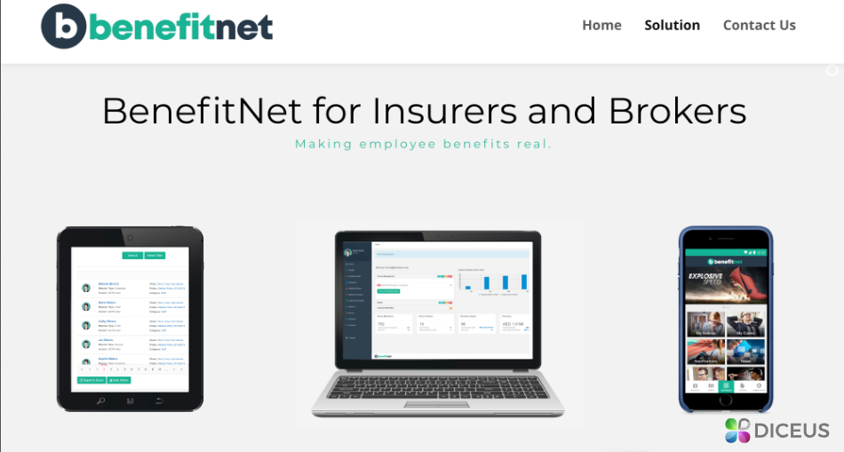 BenefitNet - Delivered by Diceus dedicated team