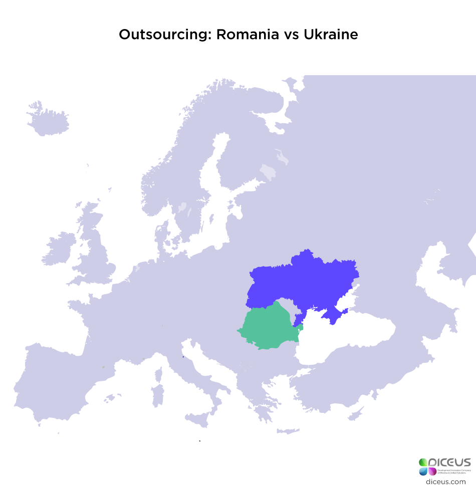 outsourcing romania vs ukraine