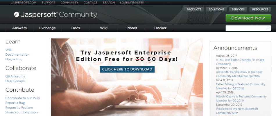 jaspersoft dashboard software