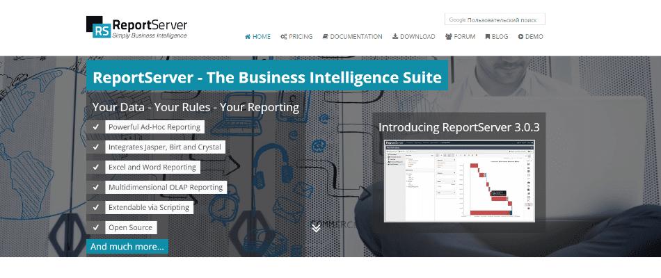 reportserver dashboard software