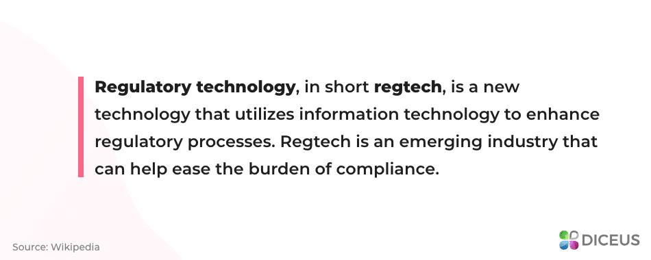 Regtech technology