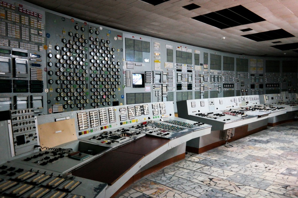 Chernobyl nuclear station, control room