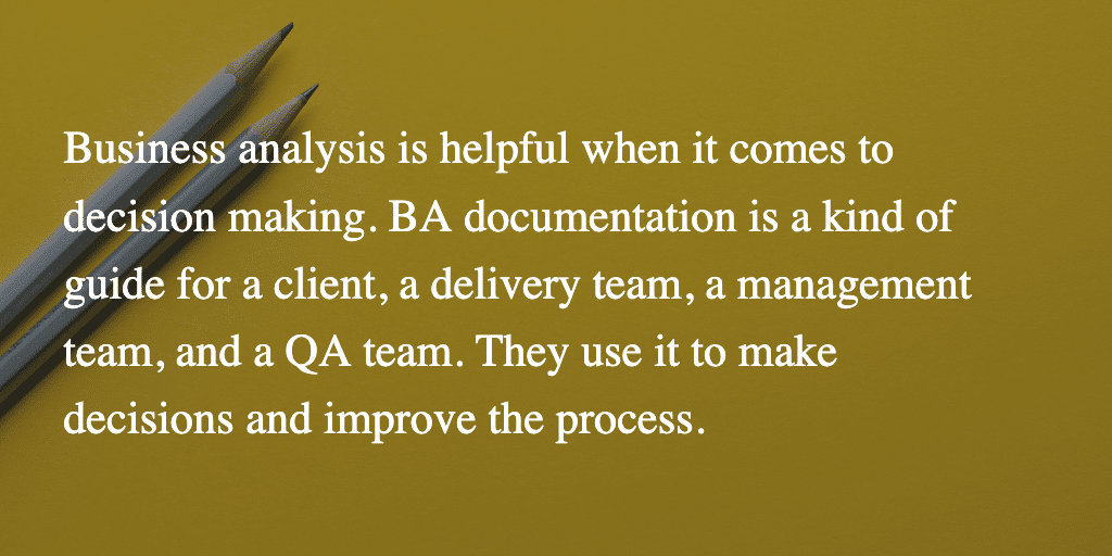 BA documentation