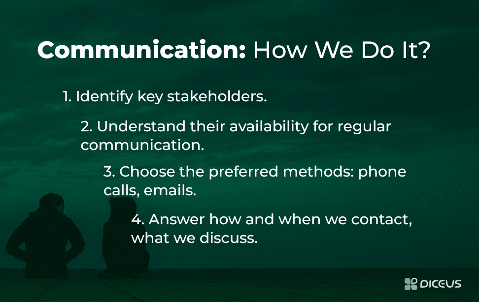 Project communication rules, steps