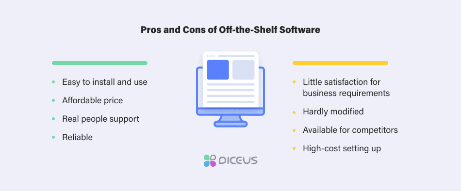 pros and cons of off-the-shelf software