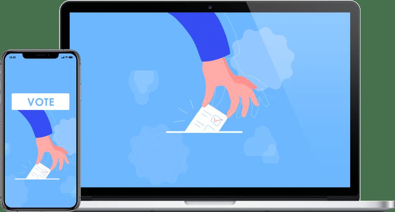 blockchain voting app project