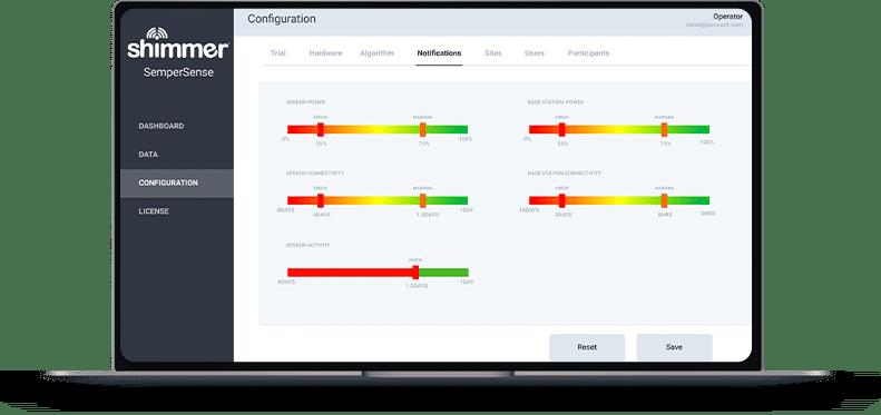 verisense wearable sensing platform by shimmer logo solution