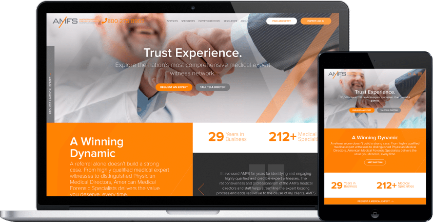 website and cms redesign for a medical forensic compony project