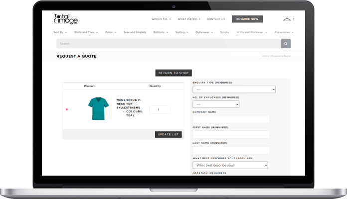 e commerce project for total image group img solution