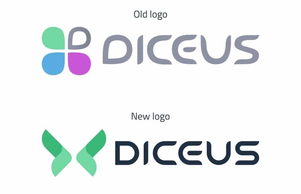 New DICEUS logo vs old DICEUS logo